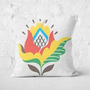 Simple Flower Square Cushion