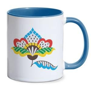 Rustical Flower Mug - Blue