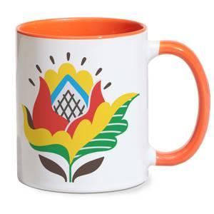 Straight Forward Flower Mug - Orange