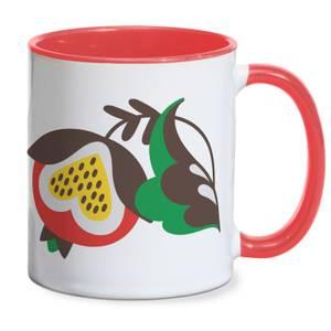 Congenial Flower Mug - Red