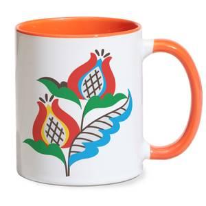 Homestyle Flower Mug - Orange