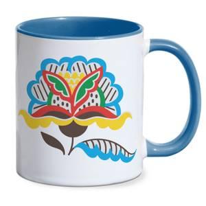 Laid Back Flower Mug - Blue