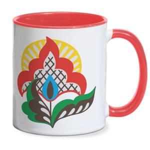 Pastoral Flower Mug - Red