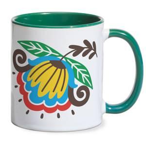Colloquial Flower Mug - Green