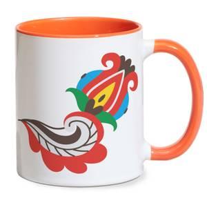 Cordial Flower Mug - Orange