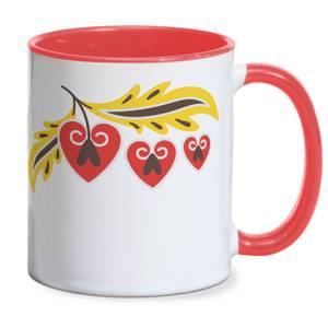 Homespun Cherries Mug - Red