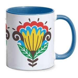 Cracker Barrel Flowers Mug - Blue