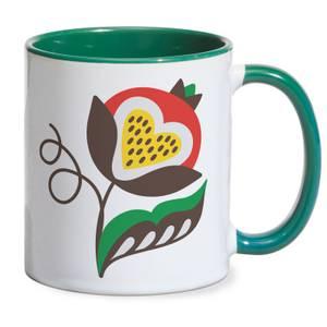 Unpretentious Flower Mug - Green