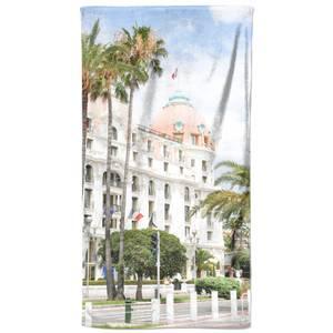 Pastel Buildings Beach Towel