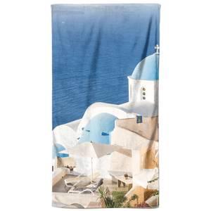 Blue Roof Blue Oceans Beach Towel