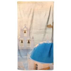 Santorini Sun Rise Beach Towel