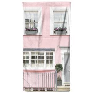 Grey Door Pink Walls Beach Towel