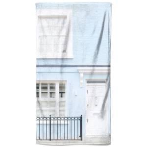 White Door And Blue Walls Beach Towel