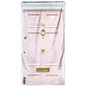Pink 54 Door Beach Towel