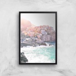 Italian Coastal Town Giclee Art Print