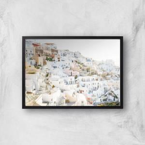 Santorini White Giclee Art Print