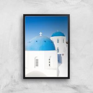Santorini Church Giclee Art Print