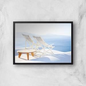 Santorini Rest Giclee Art Print