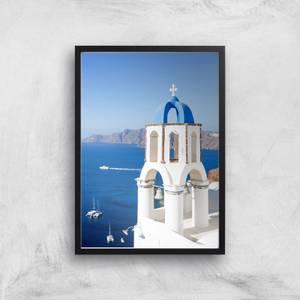 Santorini Tower Giclee Art Print