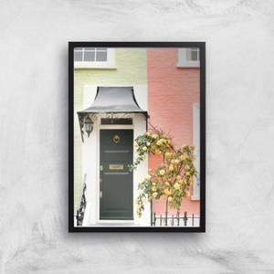 Pastel Walls And Dark Doors Giclee Art Print
