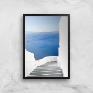 Santorini Steps Giclee Art Print