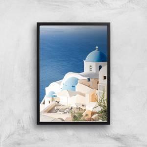 Santorini Views Giclee Art Print