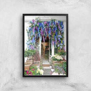 London Flower Shop Giclee Art Print