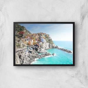 Santorini Coast Giclee Art Print