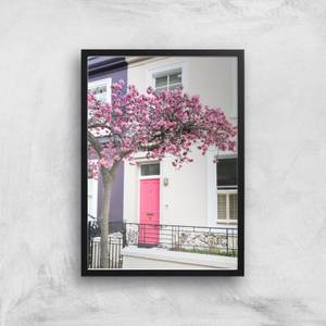 That's My House With The Pink Door Giclee Art Print