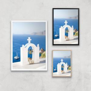 Santorini Ocean Giclee Art Print