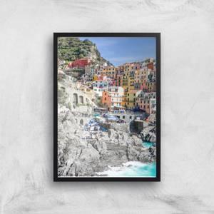 By The Italian Coast Giclee Art Print