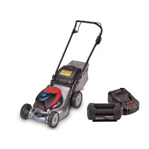 Izy HRG 416 XB Lawnmower, 4Ah Battery & Fast Charger Bundle
