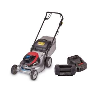 Izy HRG 466 XB Lawnmower, 6Ah Battery & Fast Charger Bundle