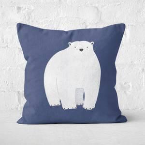 Snowtap Polar Bear Square Cushion