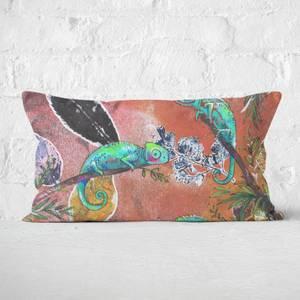 Snowtap Neon Chameleons Rectangular Cushion