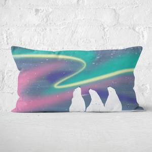 Snowtap Polar Bears Aurora Rectangular Cushion