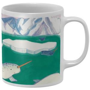 Snowtap Narwhals Mug