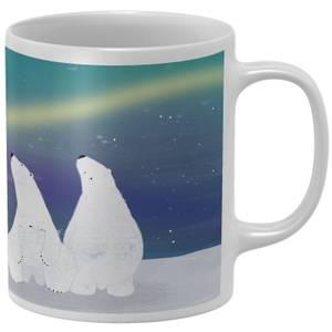 Snowtap Aurora Polar Bears Mug