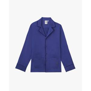 Men's Classic Cotton Pyjama Top - Spectrum Blue