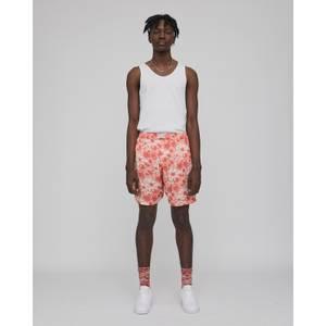 Hazy Daisy Long Pyjama Shorts - Rust