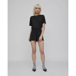 Semi Sheer Shorts - Black