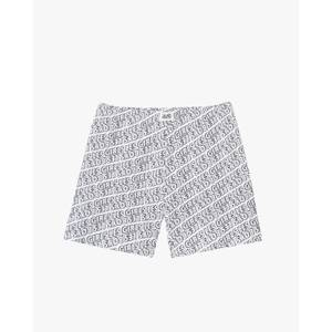 Allover Print Cotton Jersey Boxers - White/Black