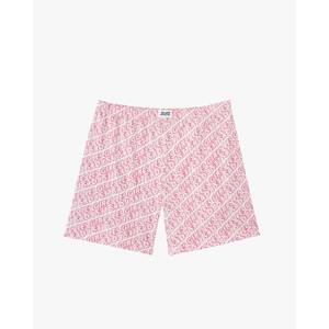Allover Print Cotton Jersey Boxers - White/Red