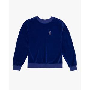 Velour Crew Neck Sweatshirt - Spectrum Blue