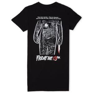 Venerdì 13 Abito T-Shirt Donna Monocromo Classico - Nero