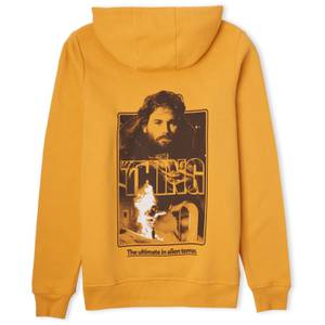 The Thing Man Is The Warmest Place To Hide Hoodie - Mustard
