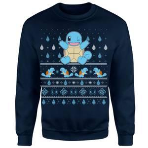 Pokemon Jingle Shells Unisex Christmas Sweatshirt - Navy