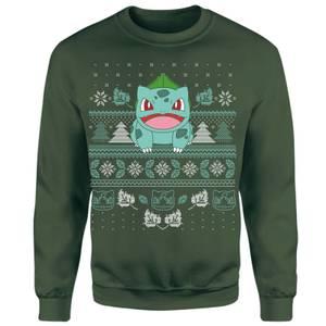 Pokemon Deck The Halls Unisex Christmas Sweatshirt - Green