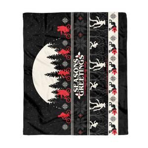Stranger Things Seasons Greetings From The Upside Down Fleece Blanket