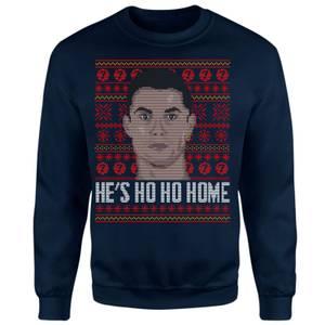 He's Ho Ho Home Unisex Sweatshirt - Navy